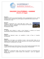 VIAGGIO CALIFORNIA + HAWAII Itinerario di
