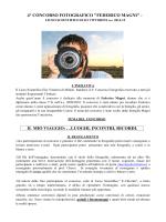 """4° CONCORSO FOTOGRAFICO """"FEDERICO MAGNI"""""""