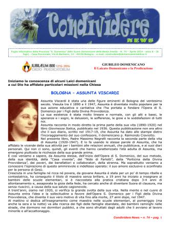 CondividereNews_aprile_2014 - Suore Domenicane della Beata