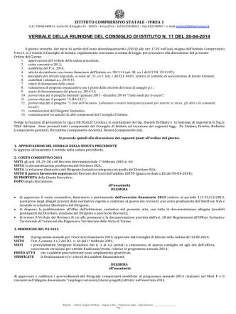Delibere - Istituto Comprensivo
