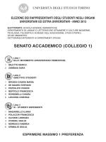 interno scheda - SENATO:Layout 1 - Università degli Studi di Torino