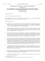REGOLAMENTO DI ESECUZIONE (UE) N. 849/2014 DELLA