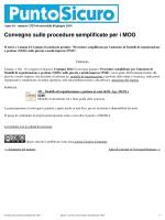 Convegno sulle procedure semplificate per i MOG