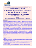 AUDITOR/Esperti 231 di Modelli di Organizzazione e Gestione (40