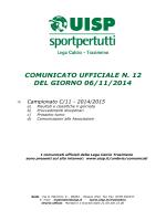 Comunicato n.12