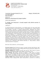 progetto Associazione Alessandra Proietti 2014