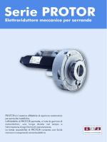 Elettroriduttore meccanico per serrande