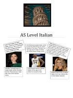 AS Level Italian