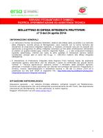 Bollettino difesa integrata fruttiferi n 9 del 24 aprile 2014