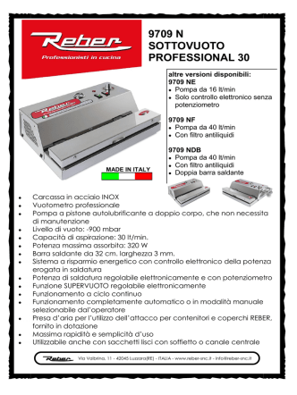 9709 N SOTTOVUOTO PROFESSIONAL 30
