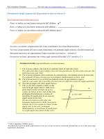 Prontuario degli argomenti di geometria per la classe 1a