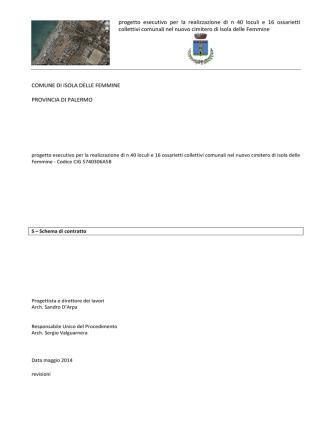 2014 schema di contratto nuovi loculi