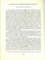 ANCORA SUGLI ORIENTALISMI IN ITALIANO