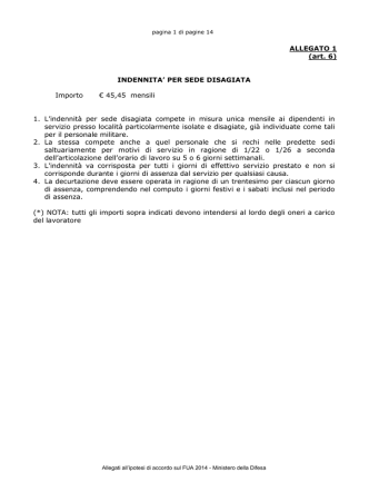 Bozza Allegati ipotesi Accordo FUA 2014
