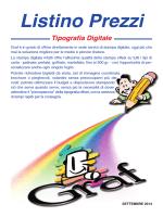 listino stampa - studio grafico e tipografia digitale a Roma