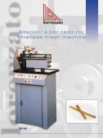 Macchina per Tessuto L/M - Lorenzato Gold Machines