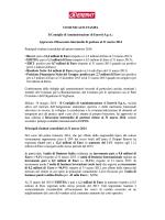 Approvato il Resoconto intermedio di gestione al 31 marzo 2