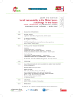 Event agenda - Alpine Space Programme