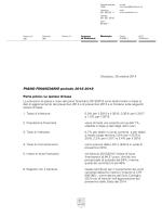 PIANO FINANZIARIO periodo 2015-2018