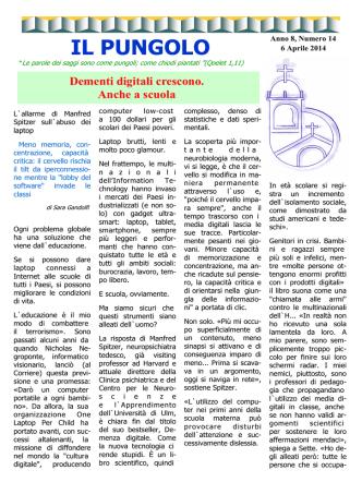 8-14 Dementi digitali crescono. Anche a scuola.