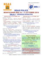 reas police montichiari (bs) 10 – 11 ottobre 2014 sala 4