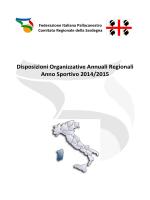 Disposizioni Organizzative Annuali Regionali Anno Sportivo 2014