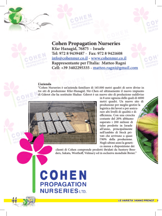 Cohen Propagation Nurseries