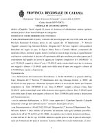 verbale di gara - Provincia Regionale di Catania