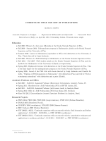 CV and List of Publications