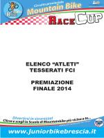 elenco premiati 2014 - Junior Bike Brescia