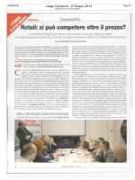25.06.2014 Retail: si può competere oltre il prezzo? Press