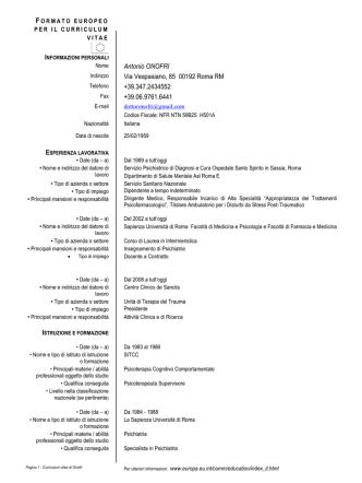 CV (English Version) - dott. Antonio Onofri