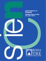 DIPARTIMENTO DI SCIENZE - Università degli Studi Roma Tre