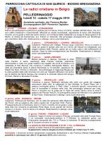 Le radici cristiane in Belgio - Parrocchia San Quirico Biogno