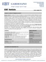 EBT Notizie - maggio 2014 - Ente Bilaterale Turismo Gardesano