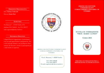 Brochure scuola di formazione 2015 - Viterbo