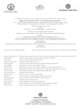 Clicca per il programma completo in pdf