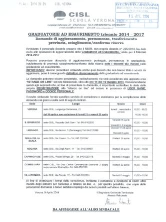 CISL Scuola Verona - Istruzione Tregnago