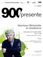 Harrison Birtwistle in residence - Conservatorio della Svizzera Italiana