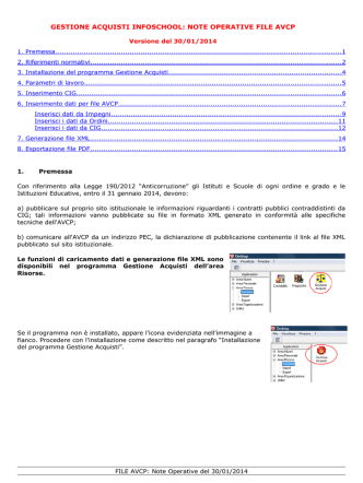 Contabilità: Ordinativo Informatico Locale (OIL)