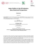Labor Politics in the Oil Industry