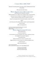 Menu degustazione del mare - Ristorante Fiamma Cremisi