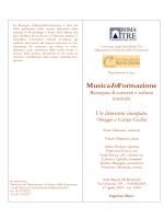 MusicaInFormazione - Università degli Studi Roma Tre