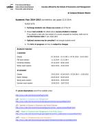 @ Campus Bolzano-Bozen Academic Year 2014