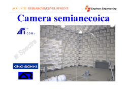 Camera semianecoica - Engines Engineering