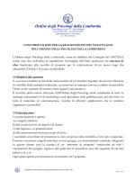 scarica il bando - Ordine degli Psicologi della Lombardia