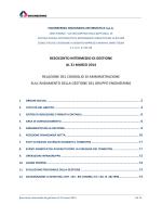 Relazione 1 trimestre 2014