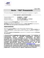 "Serie ""D2"" Femminile - FIT Comitato Regionale Lombardo"