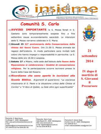 21-09-14 - Parrocchia Santa Maria Nuova