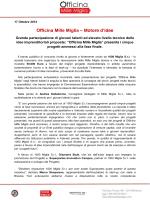 """Bando """"Officina Mille Miglia"""""""